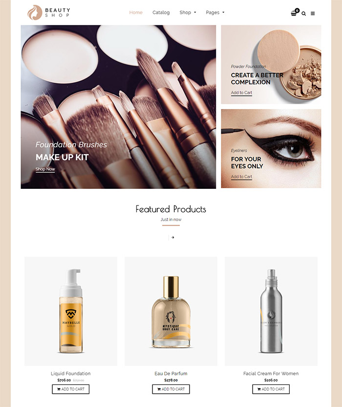 How to make your site stand out using a health & beauty theme